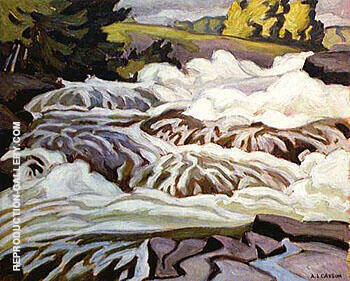 Buck Slide By A J Casson - Oil Paintings & Art Reproductions - Reproduction Gallery