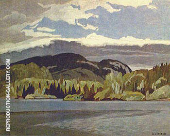 Lake By A J Casson - Oil Paintings & Art Reproductions - Reproduction Gallery