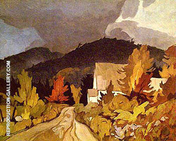 Reproduction of Country Church by A J Casson | Oil Painting Replica On CanvasReproduction Gallery