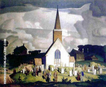 Country Crisis Painting By A J Casson - Reproduction Gallery
