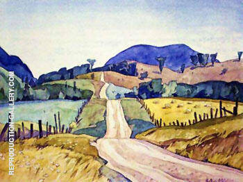 Country Road Painting By A J Casson - Reproduction Gallery