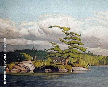 Moose Lake By A J Casson Replica Paintings on Canvas - Reproduction Gallery