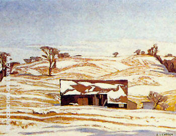 Early Winter By A J Casson Replica Paintings on Canvas - Reproduction Gallery