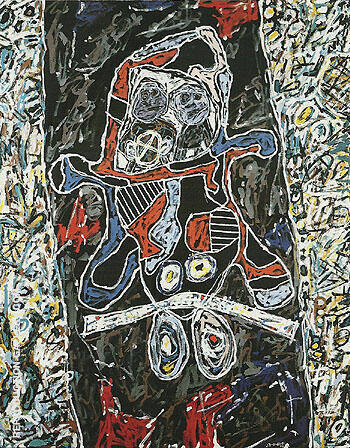 Black Highway 1963 By Jean Dubuffet