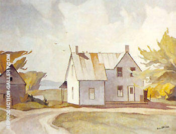 Farm House B By A J Casson - Oil Paintings & Art Reproductions - Reproduction Gallery