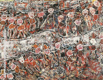 Circling 1961 By Jean Dubuffet