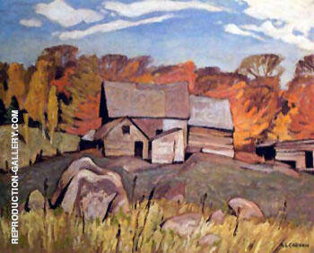 Farm Near Baptiste By A J Casson - Oil Paintings & Art Reproductions - Reproduction Gallery