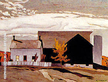 Reproduction of Farm Near Vandorf by A J Casson | Oil Painting Replica On CanvasReproduction Gallery