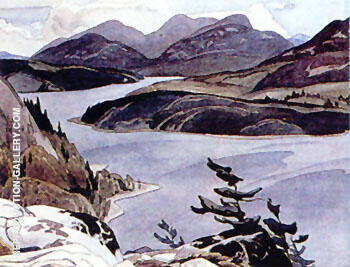 Flood Lake Painting By A J Casson - Reproduction Gallery