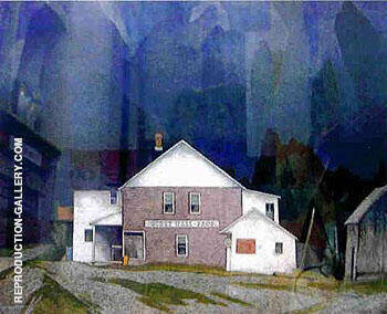 General Store By A J Casson - Oil Paintings & Art Reproductions - Reproduction Gallery