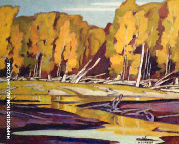 Grance Lake By A J Casson - Oil Paintings & Art Reproductions - Reproduction Gallery