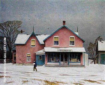 Grey March Day By A J Casson Replica Paintings on Canvas - Reproduction Gallery