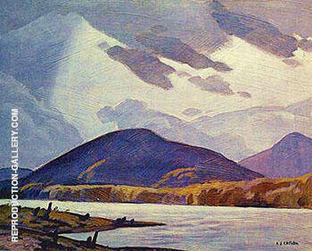 Halfway Lake By A J Casson - Oil Paintings & Art Reproductions - Reproduction Gallery