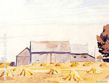 Harvest Time Painting By A J Casson - Reproduction Gallery