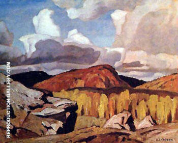 Hills at Bancroft By A J Casson - Oil Paintings & Art Reproductions - Reproduction Gallery
