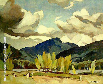 Hills at Baptiste Lake By A J Casson - Oil Paintings & Art Reproductions - Reproduction Gallery