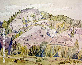 Hills at Mcgarry Flats By A J Casson