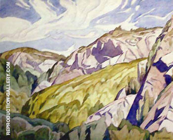 Hills Little Missisippi River By A J Casson - Oil Paintings & Art Reproductions - Reproduction Gallery