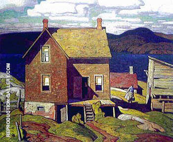 House at Parry Sound By A J Casson - Oil Paintings & Art Reproductions - Reproduction Gallery
