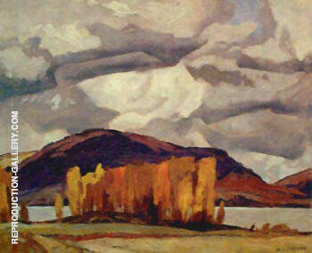 Kamaniskeg Lake Autumn By A J Casson