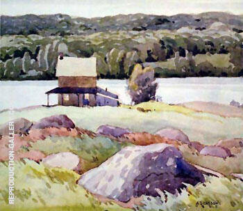 Lake Kashagawigamog Painting By A J Casson - Reproduction Gallery