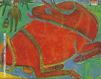 Red Cow 1943 By Jean Dubuffet