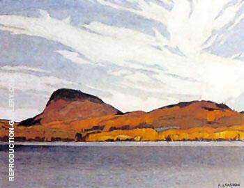 Lake Willough By A J Casson - Oil Paintings & Art Reproductions - Reproduction Gallery