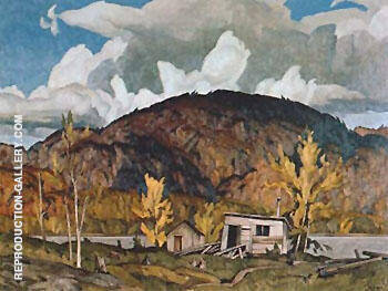 Lumbermans Cabin By A J Casson Replica Paintings on Canvas - Reproduction Gallery
