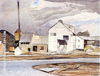 Lumber Mill By A J Casson