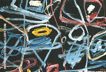 Data Nonsuits H 15 1984 By Jean Dubuffet - Oil Paintings & Art Reproductions - Reproduction Gallery