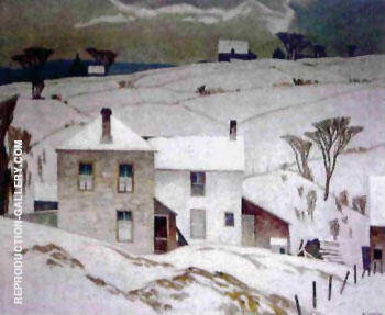 March Day By A J Casson - Oil Paintings & Art Reproductions - Reproduction Gallery
