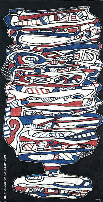 The Glass of Water V 1967 By Jean Dubuffet