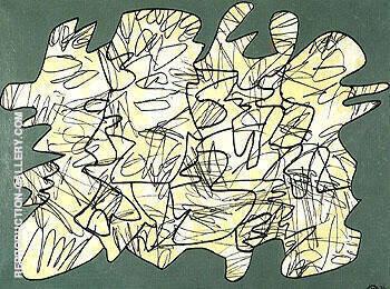 Parachiffre XVI 1974 By Jean Dubuffet
