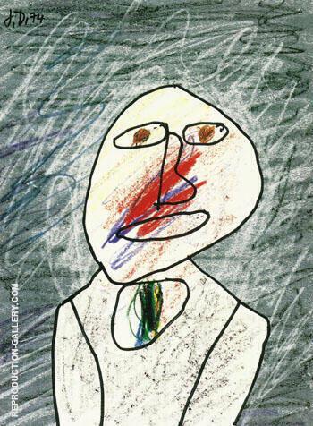 Portrait of a Man 1974 By Jean Dubuffet