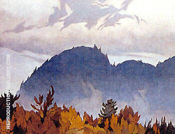 Morning Mist A By A J Casson Replica Paintings on Canvas - Reproduction Gallery