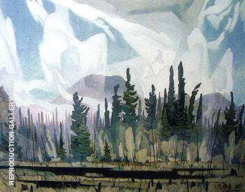 Morning Mist B By A J Casson