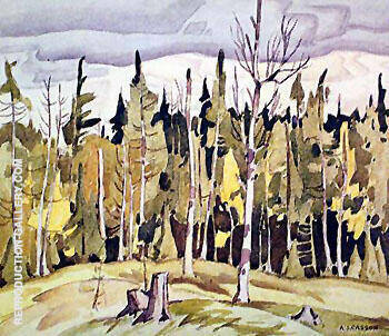 Near Parry Sound By A J Casson - Oil Paintings & Art Reproductions - Reproduction Gallery