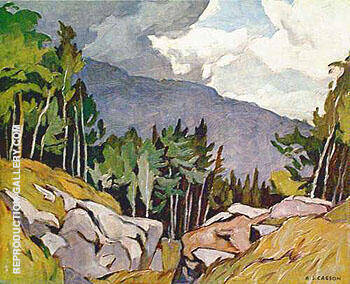 Near Rockingham By A J Casson Replica Paintings on Canvas - Reproduction Gallery