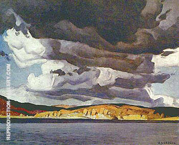 October Storm Painting By A J Casson - Reproduction Gallery