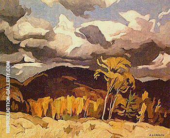 Reproduction of October Storm Clouds by A J Casson | Oil Painting Replica On CanvasReproduction Gallery