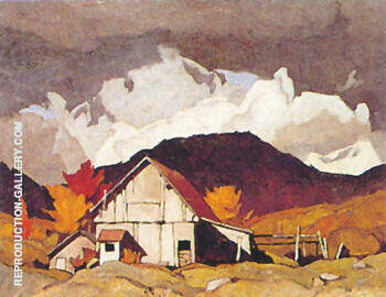 Old Barn By A J Casson - Oil Paintings & Art Reproductions - Reproduction Gallery