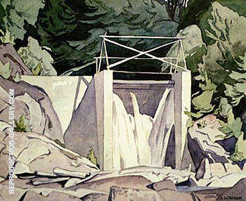 Reproduction of Old Country Dam by A J Casson | Oil Painting Replica On CanvasReproduction Gallery