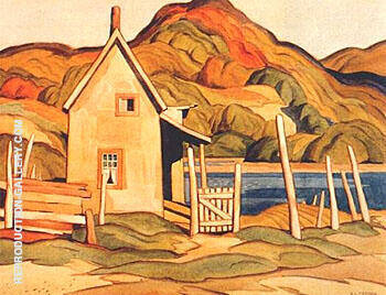 Old House Haliburton Painting By A J Casson - Reproduction Gallery