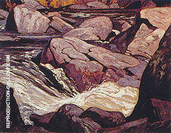 Palmer Rapids By A J Casson Replica Paintings on Canvas - Reproduction Gallery