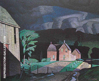 Passing Storm By A J Casson Replica Paintings on Canvas - Reproduction Gallery