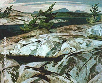 Picnic Island Painting By A J Casson - Reproduction Gallery