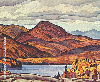Pike Lake Painting By A J Casson - Reproduction Gallery