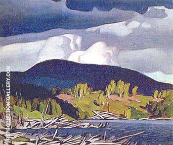 Pugh Lake By A J Casson - Oil Paintings & Art Reproductions - Reproduction Gallery