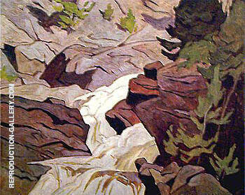 Ragged Falls By A J Casson
