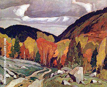 Road at Yantha Lake By A J Casson Replica Paintings on Canvas - Reproduction Gallery
